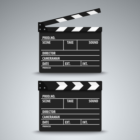 Open and closed film flap template vector eps 10 Vector Illustration