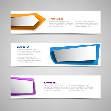 Collection banners with colorful design abstract labels vector eps 10