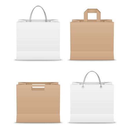 Collection paper shopping bags template vector eps 10