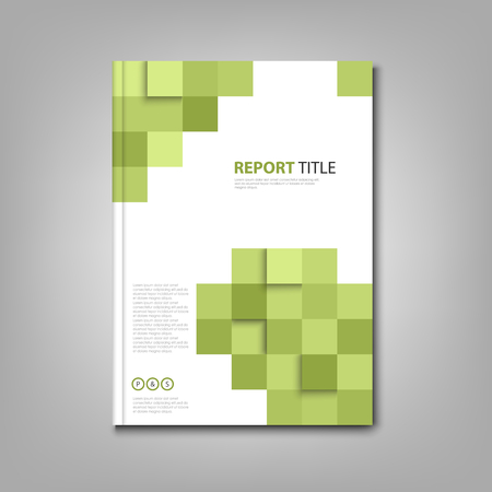 Brochures book or flyer with abstract green squares vector eps 10