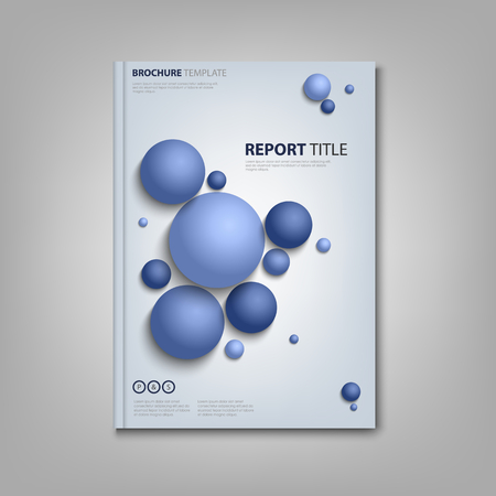 Brochures book or flyer with abstract blue balls vector eps 10