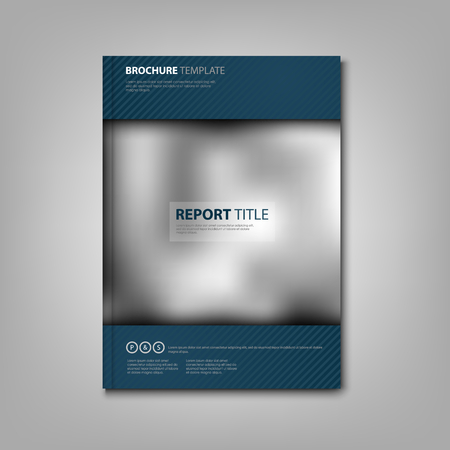 Brochures book or flyer with blue accessories and strips vector eps 10