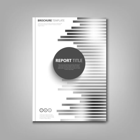 Brochures book or flyer with abstract black white strips vector eps 10 Imagens - 85650418
