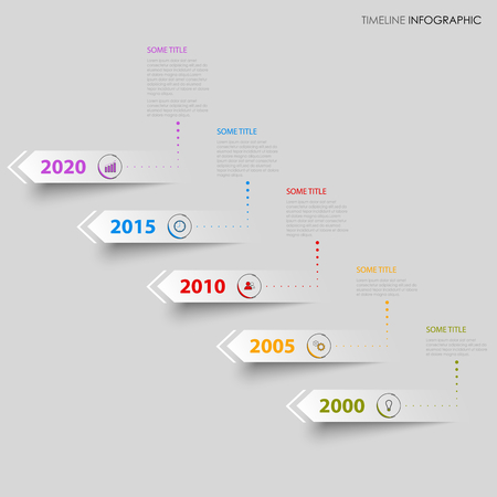 Time line info graphic with design directional arrows vector eps 10