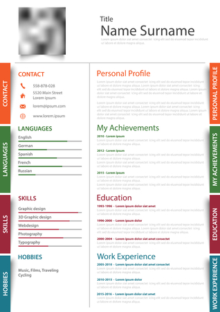 Professional resume sample template.