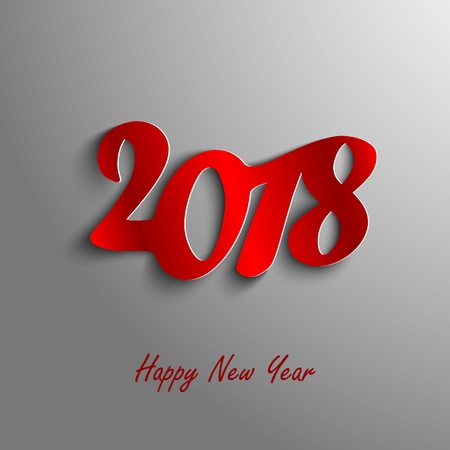 Design abstract New Year wishes on gray background vector eps 10. Illustration