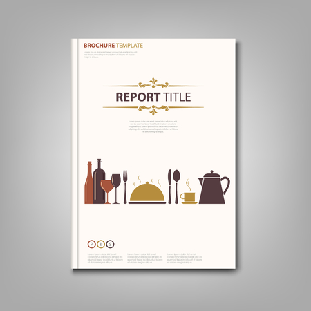 Brochures book or flyer with restaurant pattern template vector eps 10