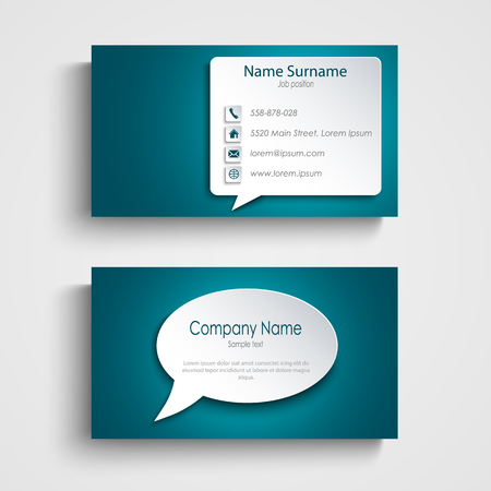 Business card with design speak bubble template vector eps 10