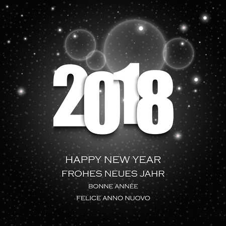 New Year wishes with numbers and dark abstract background vector eps 10 Illustration