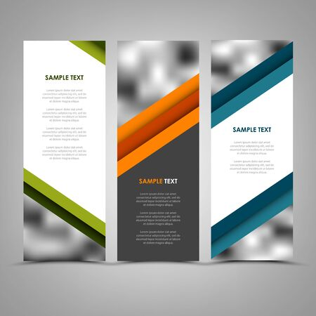 Collection abstract banners with color helical stripes template vector.