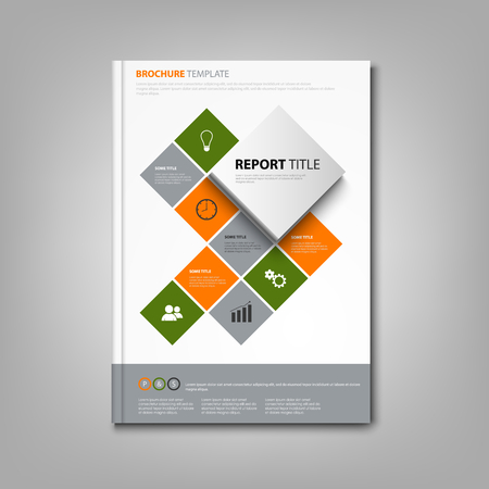 Brochures book or flyer with cube abstract info graphic vector Imagens - 98717257