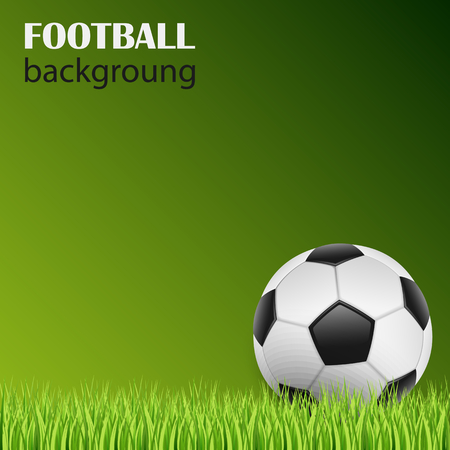 Football on green grass background template vector eps 10