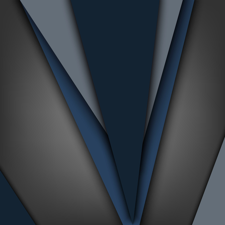 Abstract background with different blue triangles template