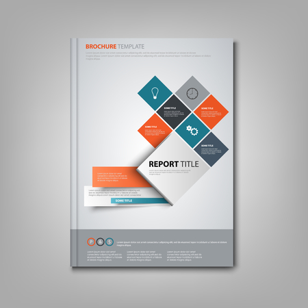 Brochures book or flyer with abstract design colored squares vector eps 10 Ilustração