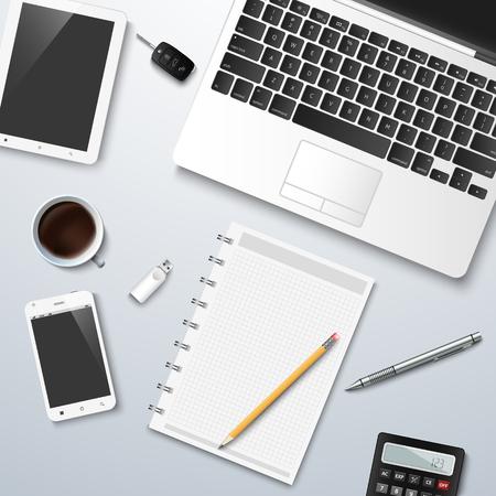Creative business design workspace mock up vector eps 10