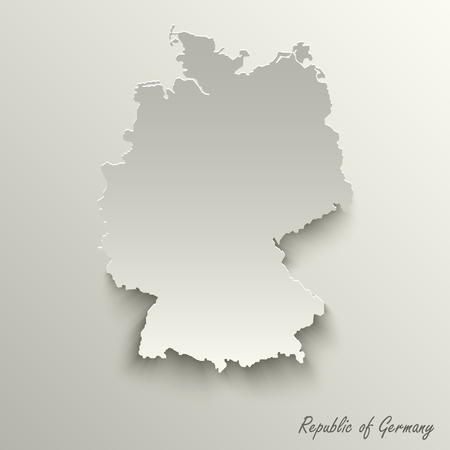 Abstract design map Federal Republic of Germany template vector eps 10