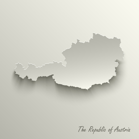 Abstract design map The Republic of Austria template vector eps 10 Ilustração
