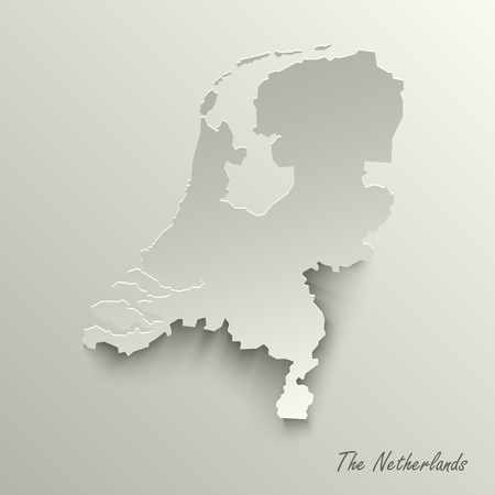 Abstract design map Kingdom of the Netherlands template vector eps 10