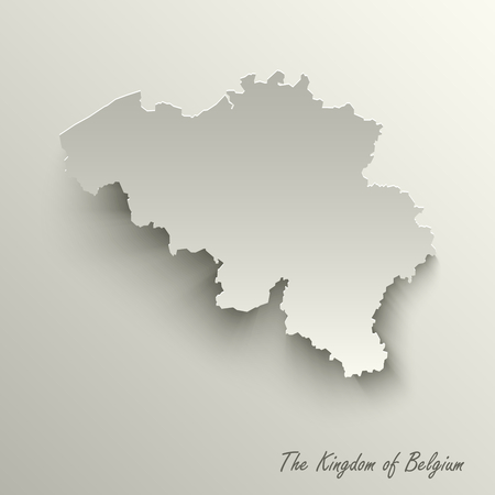 Abstract design map the Kingdom of Belgium template vector eps 10