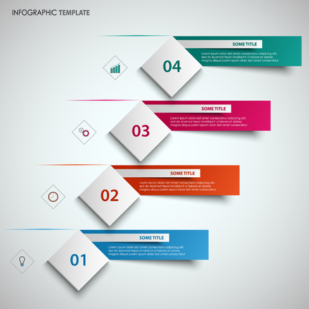 Abstract info graphic with design cube and labels template vector eps 10 向量圖像