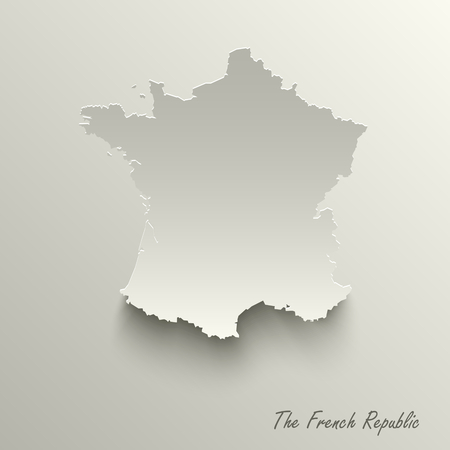 Abstract design map the French Republic template vector eps 10