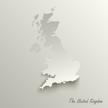 Abstract design map the United Kingdom template vector eps 10 Illustration