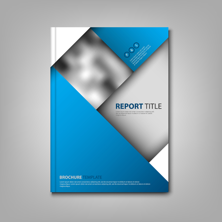 Brochures book or flyer with abstract blue design vector eps 10