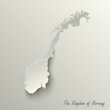 Abstract design map the Kingdom of Norway template vector eps 10 Illustration