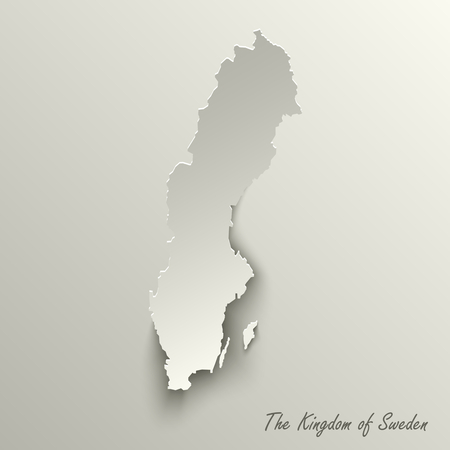 Abstract design map the Kingdom of Sweden template vector eps 10