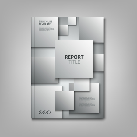Brochures book or flyer with abstract gray squares template vector eps 10