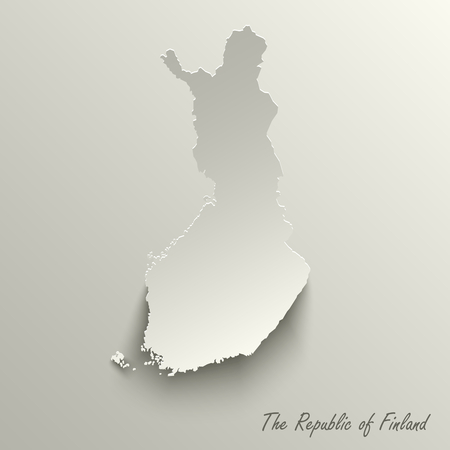 Abstract design map the Republic of Finland template vector eps 10 Ilustração