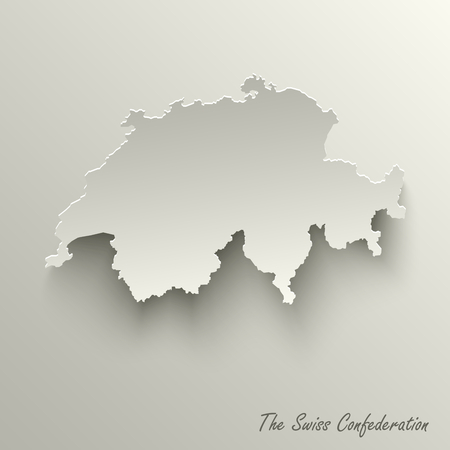 Abstract design map the Swiss Confederation template vector eps 10 Illustration