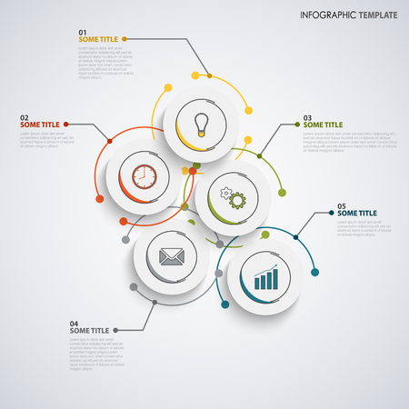 Info graphic with abstract design circles template vector eps 10 Ilustração
