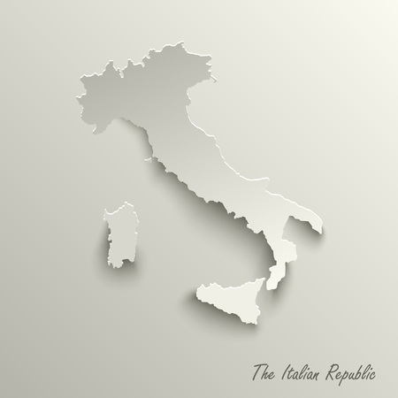 Abstract design map the Italian Republic template vector eps 10