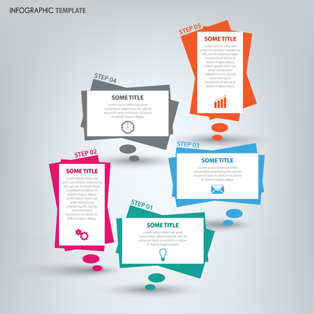 Info graphic with colored design dialog bubbles template vector eps 10