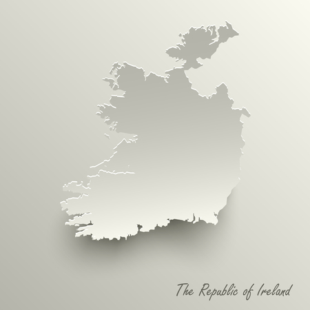 Abstract design map the Republic of Ireland template vector eps 10