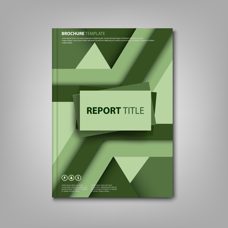 Brochures book or flyer with green abstract design pattern vector eps 10