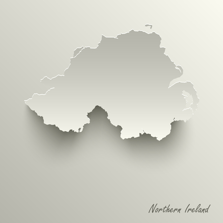 Abstract design map Northern Ireland template vector eps 10 Ilustração