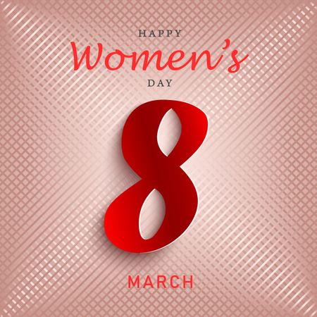 Womens day poster in red design vector eps 10 Illustration