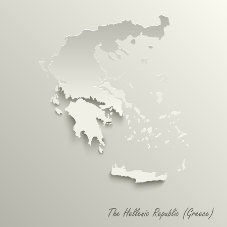 Abstract design map the Hellenic Republic template vector eps 10