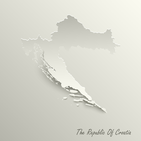 Abstract design map the Republic of Croatia template vector eps 10