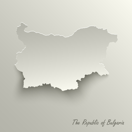 Abstract design map the Republic of Bulgaria template vector eps 10 Illustration