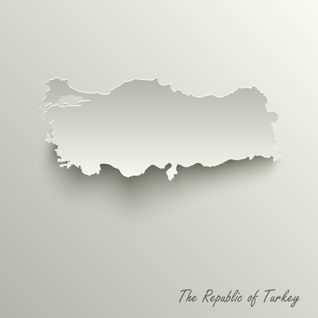 Abstract design map the Republic of Turkey template vector eps 10