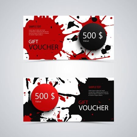 Gift voucher with abstract design spots template vector eps 10