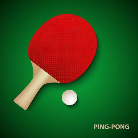table tennis poster with racket and ball template vector eps 10