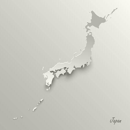 Abstract design map Japan template Ilustração