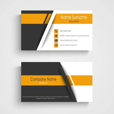 Business card with abstract strips in three color design vector eps 10