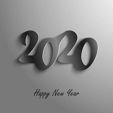 New Year card with abstract numbers in dark design vector eps 10 Ilustração