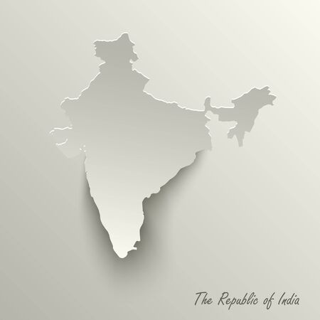 Abstract design map the Republic of India template