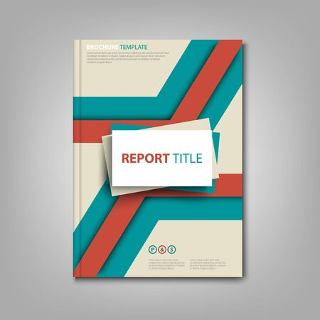 Brochures book or flyer abstract design in red blue color vector